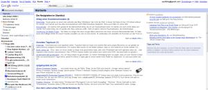 Ansicht von Google Reader